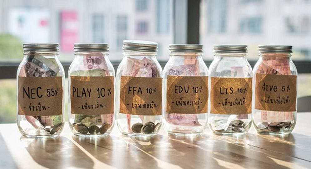 Phương pháp quản lý tiền thông minh theo nguyên tắc 6 chiếc hũ