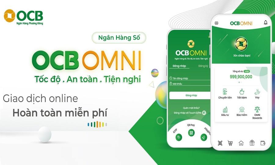 Ứng dụng chuyển tiền ngân hàng miễn phí OCB OMNI.