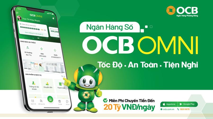 Chuyển tiền ngân hàng miễn phí với OCB OMNI.