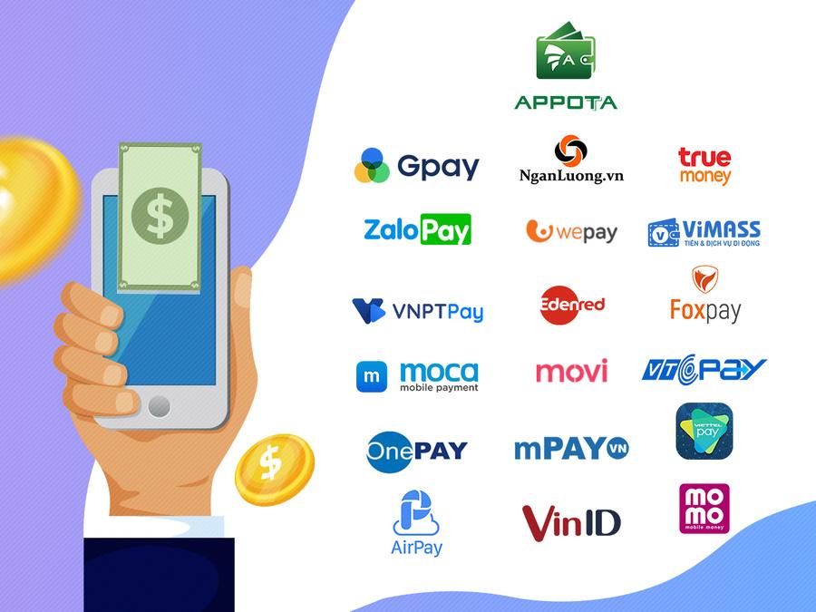 Các ứng dụng baning hỗ trợ chuyển tiền qua điện thoại.