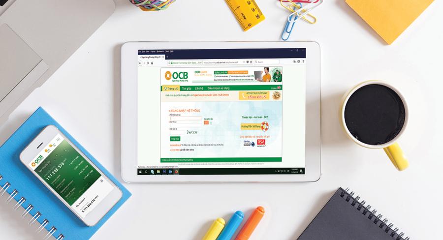 Dịch vụ Internet Banking được thực hiện trên nhiều thiết bị kết nối internet.