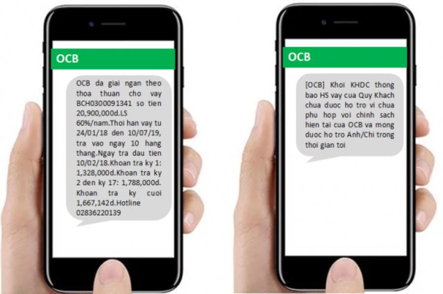 SMS Banking được sử dụng chính cho chức năng cập nhật biến động số dư.