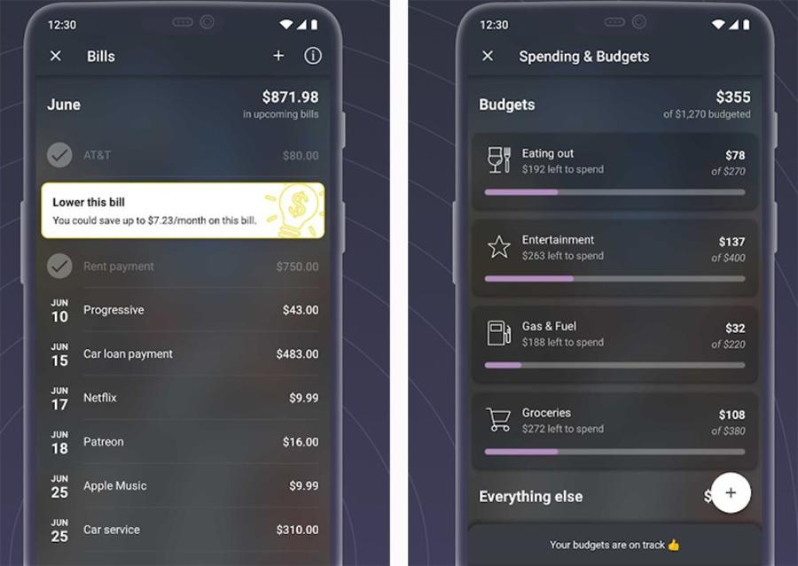 App Pocket Guard quản lý chi tiêu cá nhân.