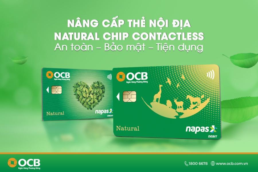 Thẻ tín dụng nội địa OCB có hạn mức rút tiền mặt 100%.