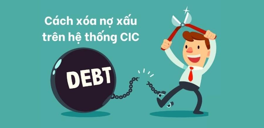 Xóa nợ xấu trên CIC không quá khó khăn.
