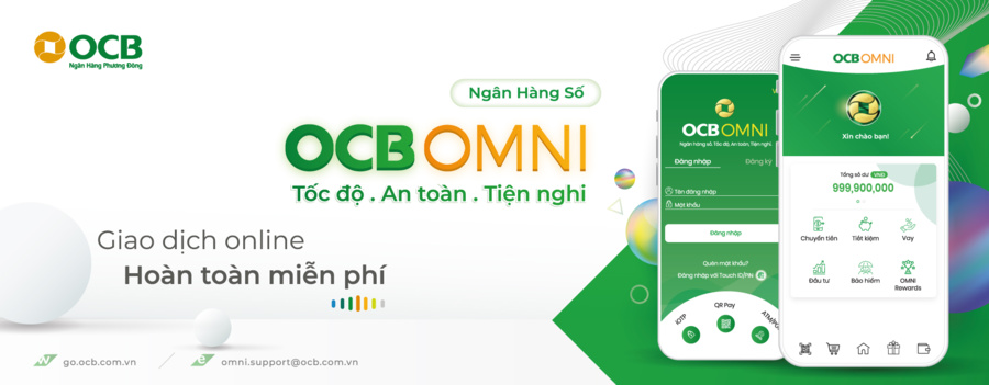Đăng ký mở sổ tiết kiệm online dễ dàng qua ứng dụng OCB Omni.