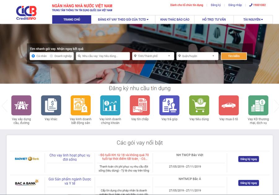 Truy cập vào website của CIC để biết thông tin nợ xấu.