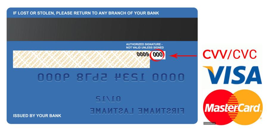 Mã CVV nằm ở mặt sau của thẻ tín dụng OCB.