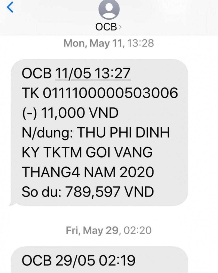 Kiểm tra số dư tài khoản OCB dễ dàng thông qua SMS Banking OCB.