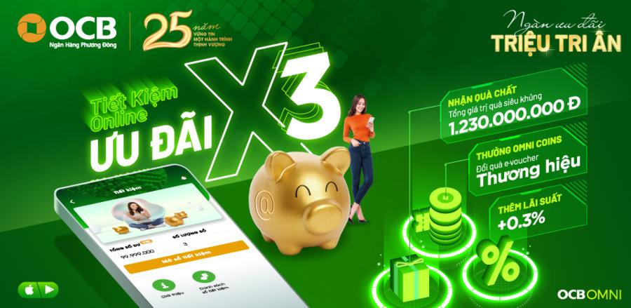 Tạo tài khoản tiền gửi tiết kiệm trong thẻ ATM thông qua OCB OMNI.