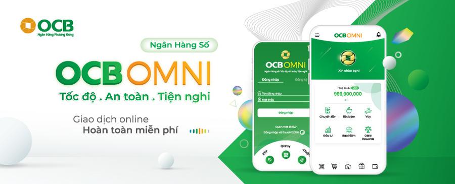 Mở sổ tiết kiệm ngay tại nhà với OCB OMNI.